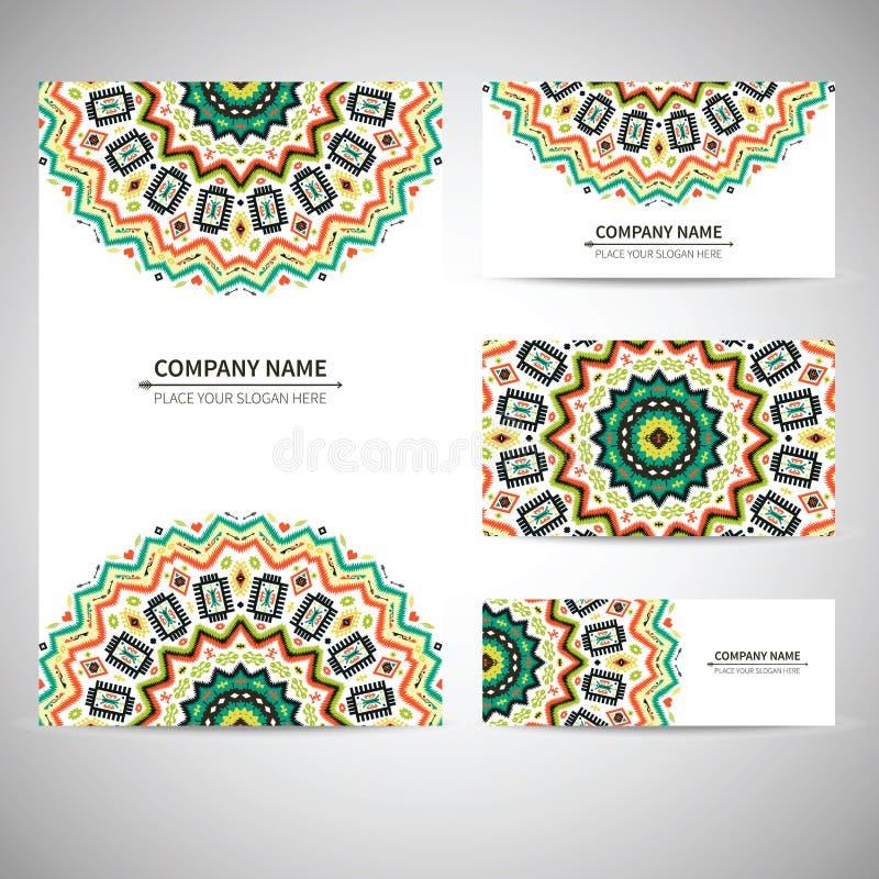 Tarjeta de visita Ejemplo del vector en stock de ilustración