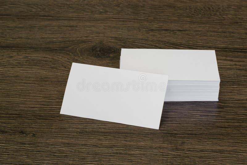 Tarjeta de visita en blanco imagenes de archivo