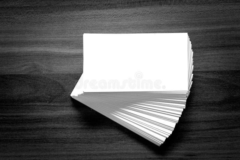 Tarjeta de visita en blanco de la identidad corporativa. foto de archivo
