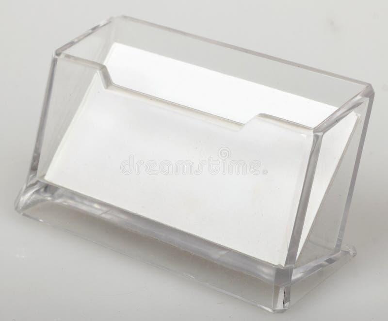 Tarjeta de visita en blanco en tenedor fotos de archivo libres de regalías