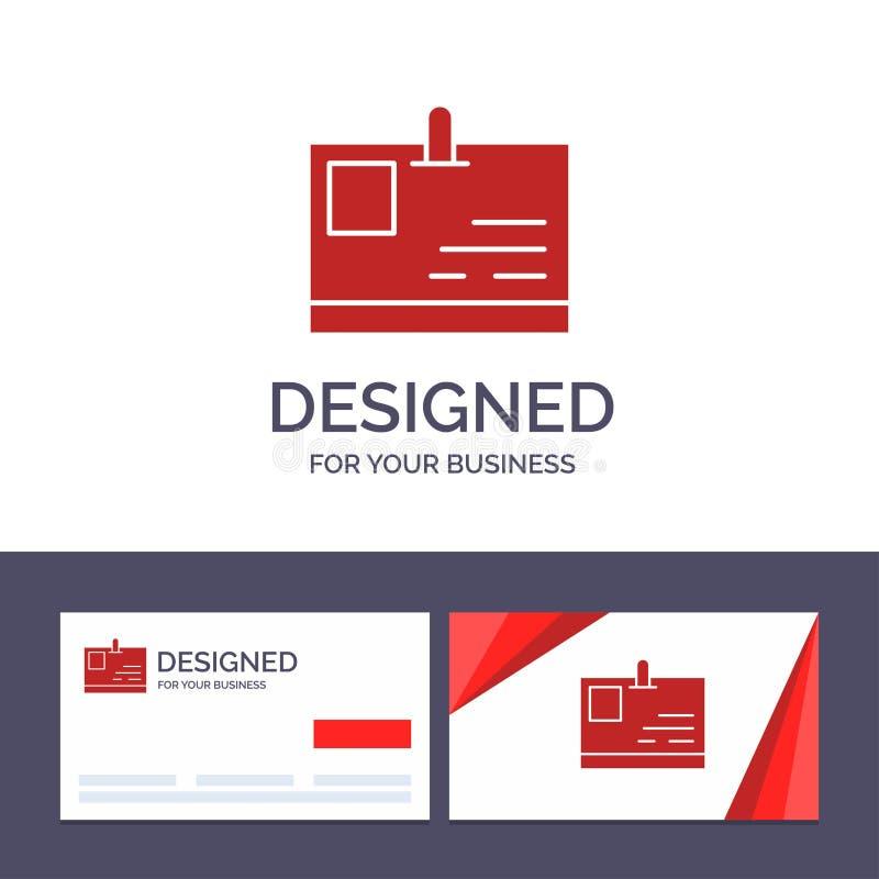 Tarjeta de visita de la plantilla creativa de la tarjeta y del logotipo, tarjeta de la identificación, identidad, ejemplo del vec libre illustration