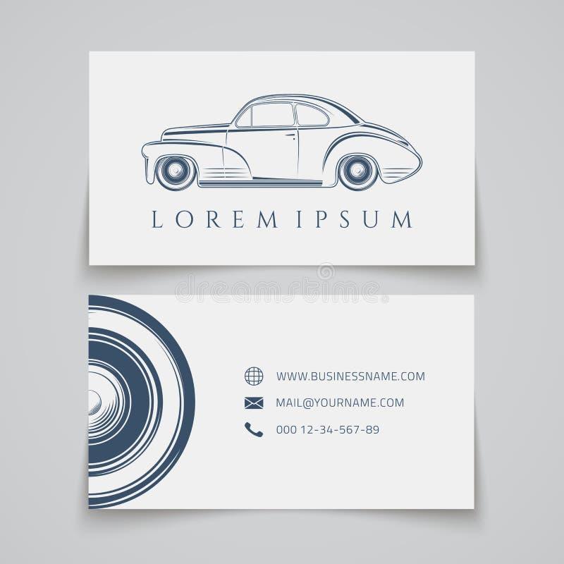 Tarjeta de visita Logotipo clásico del coche libre illustration