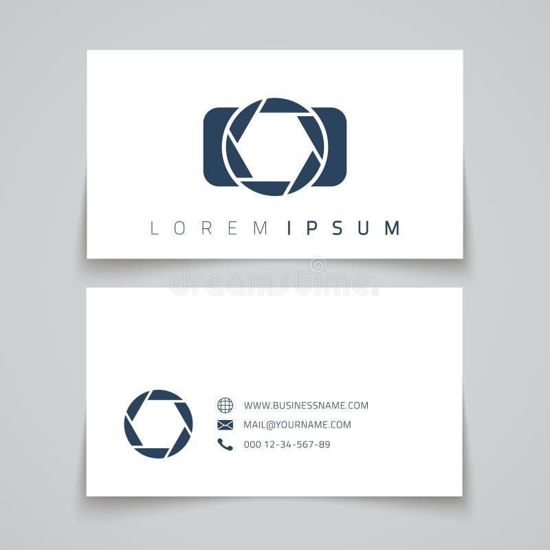 Tarjeta de visita Logotipo del conceptl de la cámara ilustración del vector