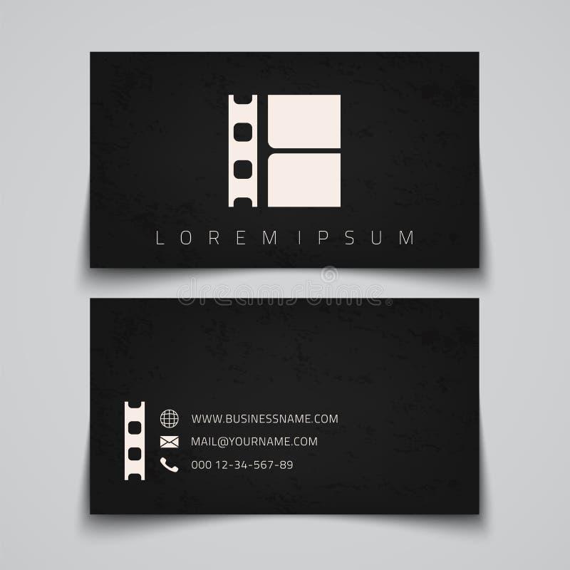 Tarjeta de visita Logotipo del concepto de la tira de la película libre illustration