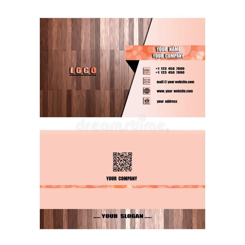 Tarjeta de visita moderna, ayuda de la tarjeta de presentación su compañía, su enterp ilustración del vector
