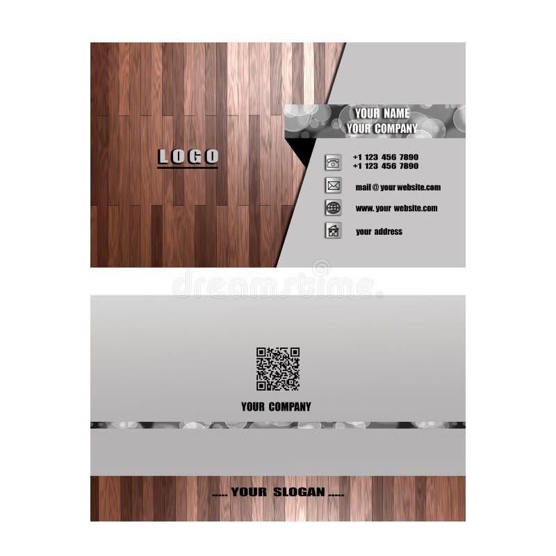 Tarjeta de visita moderna, ayuda de la tarjeta de presentación su compañía, su enterp stock de ilustración