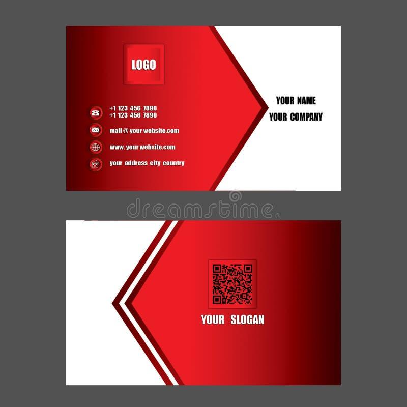 Tarjeta de visita moderna, ayuda de la tarjeta de presentación su compañía, su enterp libre illustration