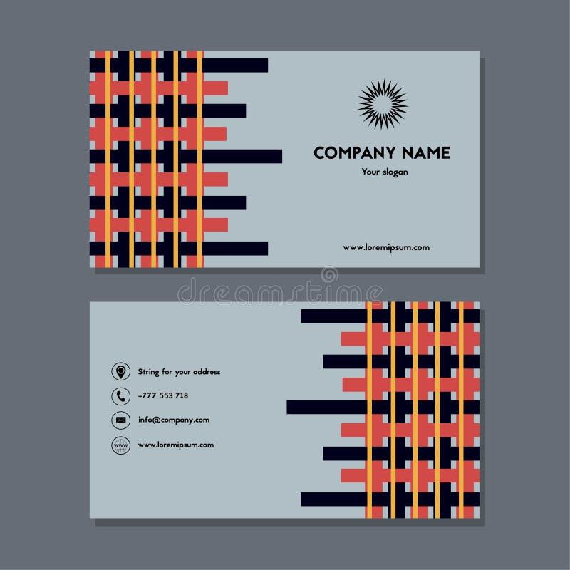 Tarjeta de visita o tarjeta de visita con la intercalación stock de ilustración