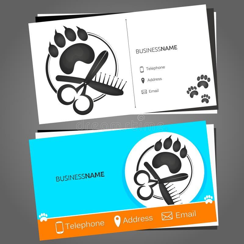 Tarjeta de visita para un peluquero para los animales domésticos libre illustration