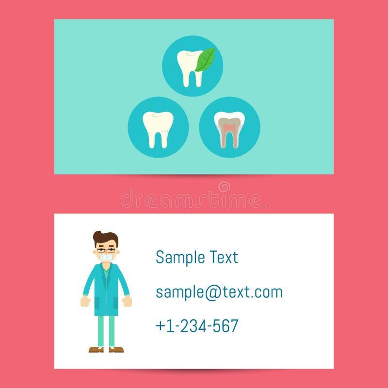 Tarjeta de visita profesional para los dentistas libre illustration