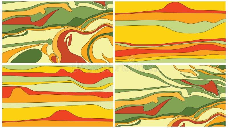 Tarjeta de visita psychodelic del color libre illustration