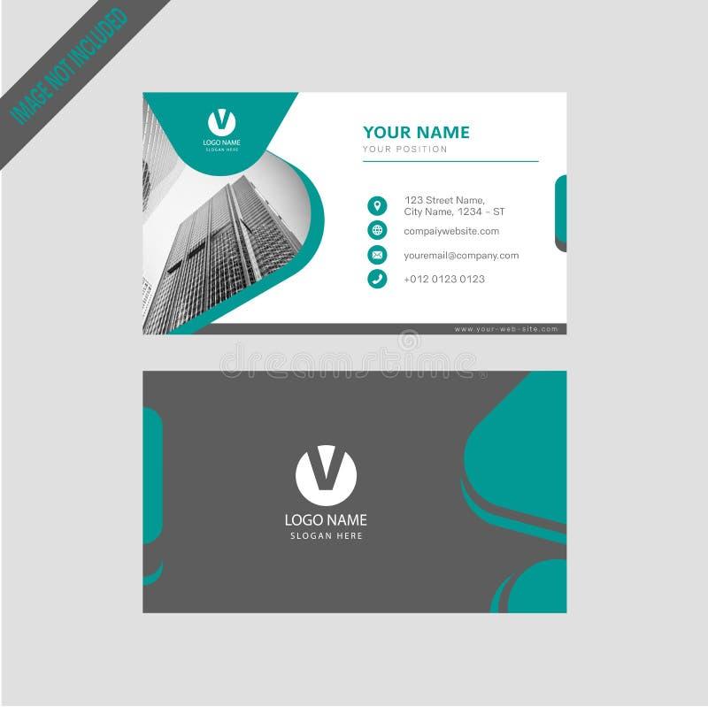 Tarjeta de visita simpal del color moderno profesional, diseño de tarjeta de la invitación libre illustration