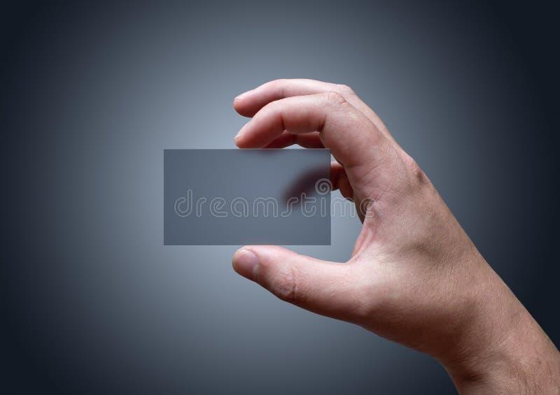 Tarjeta de visita transparente foto de archivo libre de regalías