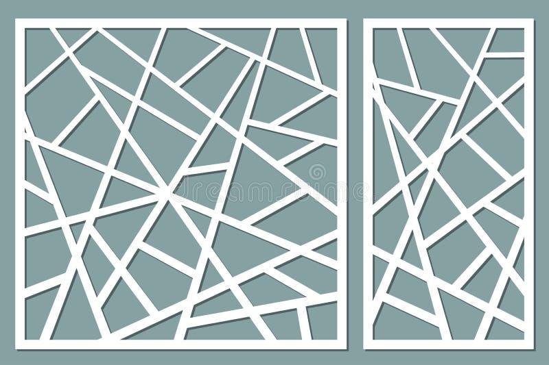 Tarjeta decorativa determinada para cortar líneas abstractas modelo Laser c libre illustration