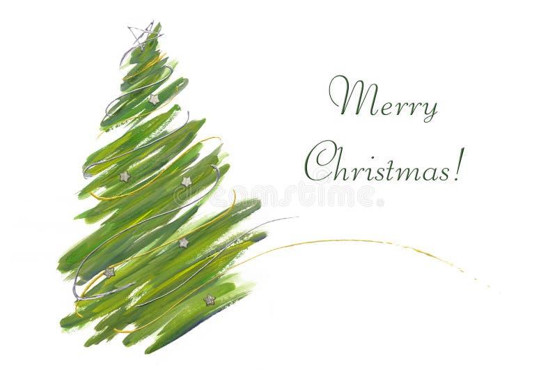 Tarjeta del árbol de navidad fotos de archivo