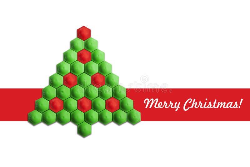 Tarjeta del árbol de navidad fotografía de archivo libre de regalías