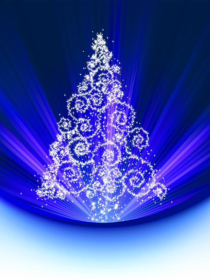 Tarjeta del árbol de navidad. EPS 8 libre illustration