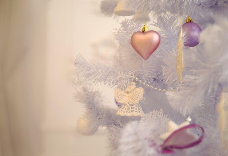 Tarjeta del árbol de navidad Piel-árbol de la decoración de la Navidad fotos de archivo