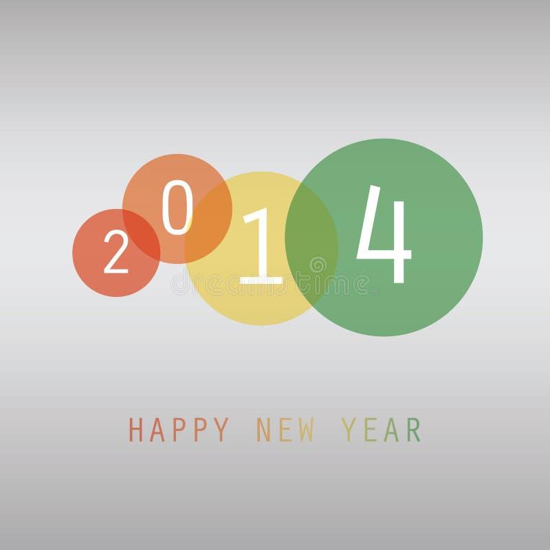 Tarjeta del Año Nuevo - 2014 libre illustration
