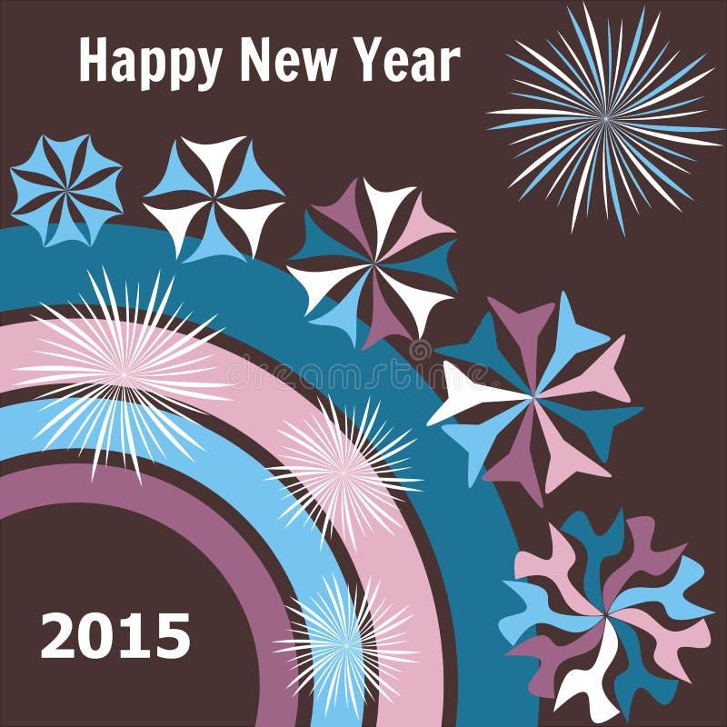 Tarjeta del Año Nuevo 2015 stock de ilustración