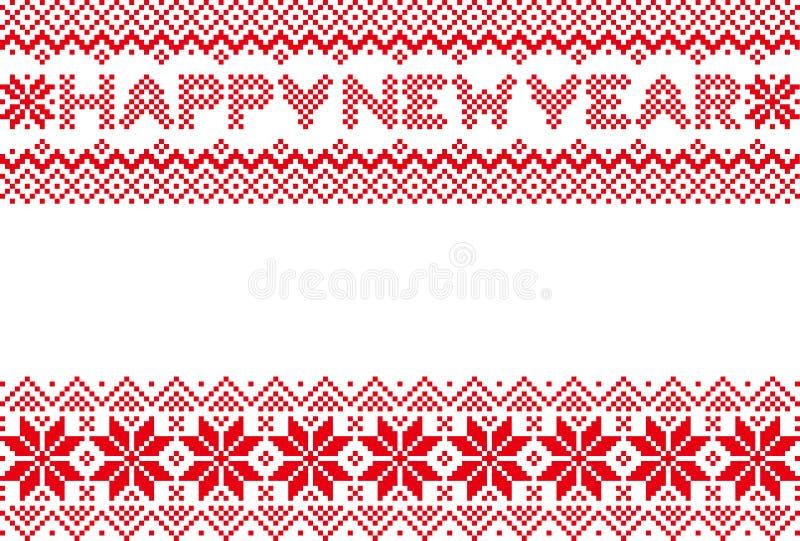 Tarjeta del Año Nuevo con el modelo nórdico libre illustration