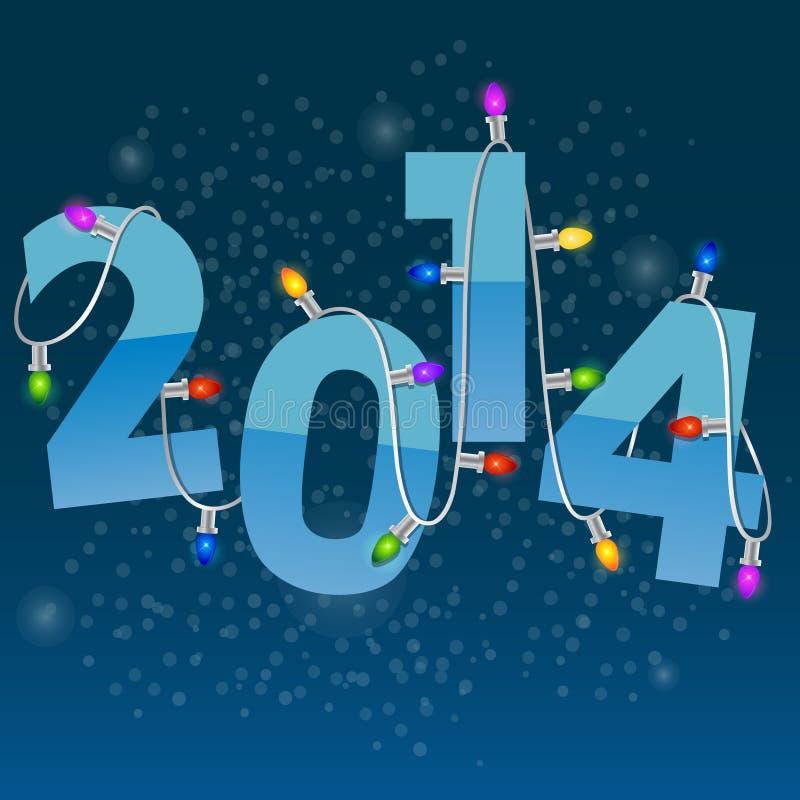Tarjeta del Año Nuevo con la guirnalda de la Navidad stock de ilustración