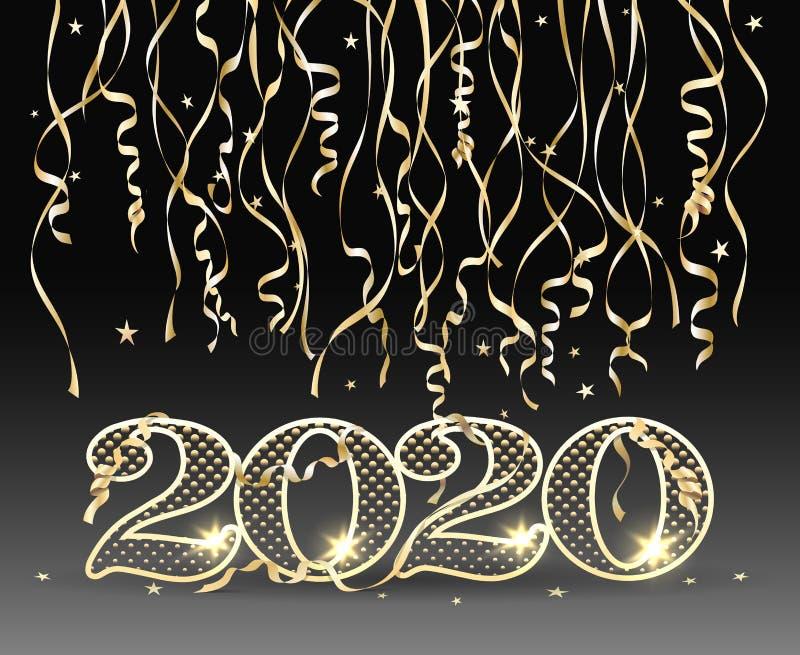 Tarjeta del Año Nuevo 2020 libre illustration