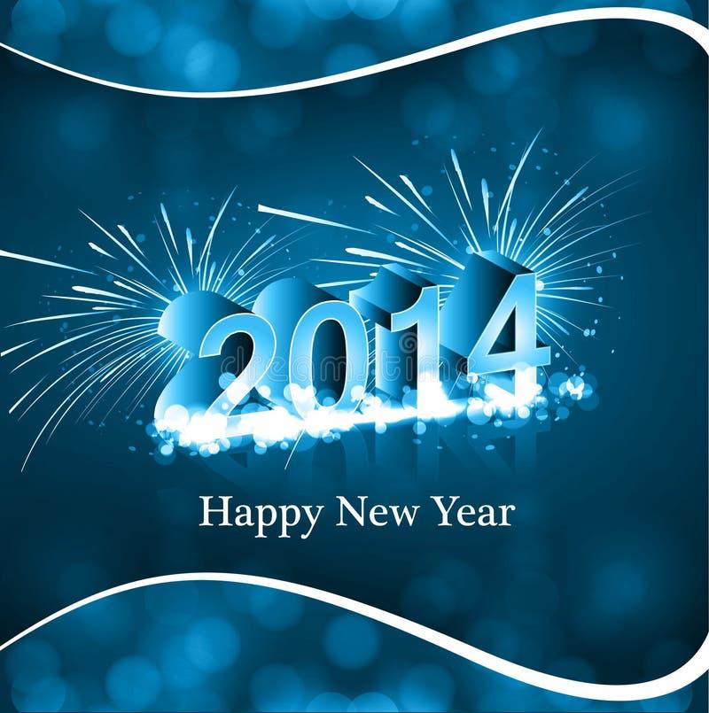 Tarjeta del Año Nuevo del vector 2014 creativa ilustración del vector