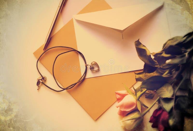 Tarjeta del amor de la memoria foto de archivo libre de regalías