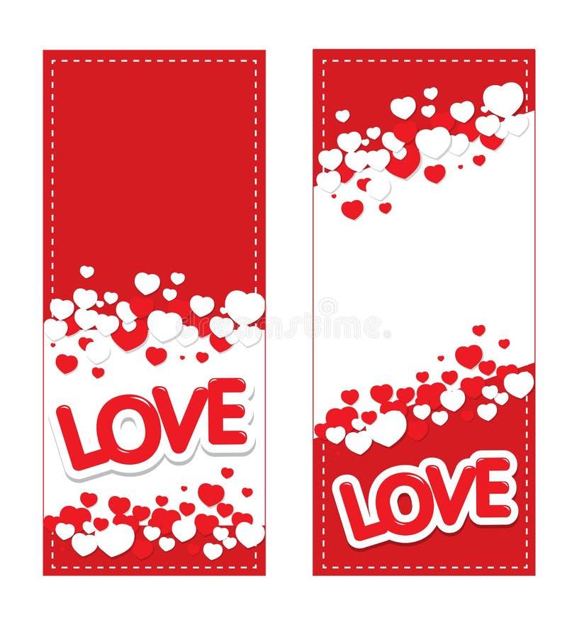 Tarjeta del amor y de los corazones imagen de archivo