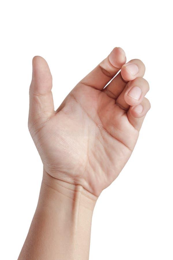 Tarjeta del asimiento de la mano, teléfono móvil fotografía de archivo libre de regalías