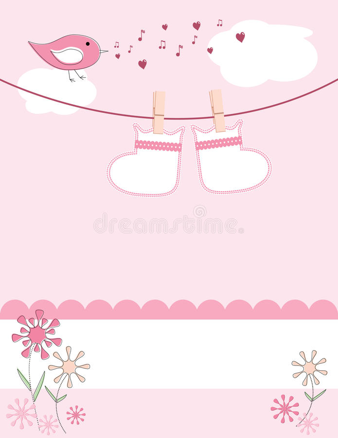 Tarjeta del aviso de la llegada del bebé libre illustration