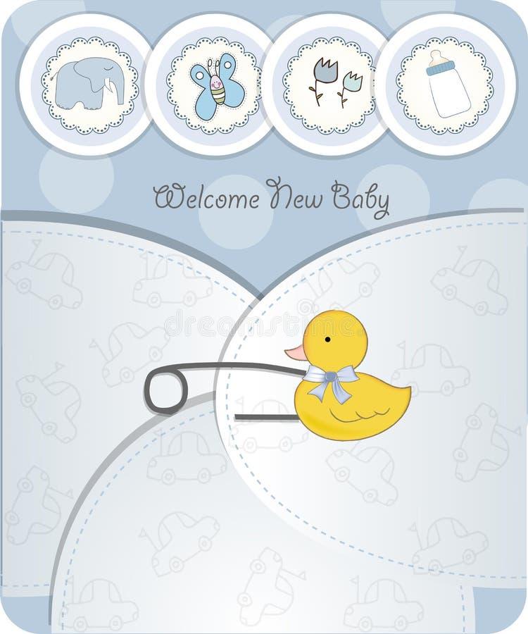 Tarjeta del aviso del bebé stock de ilustración