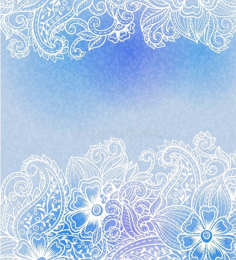 Tarjeta del azul del vintage libre illustration