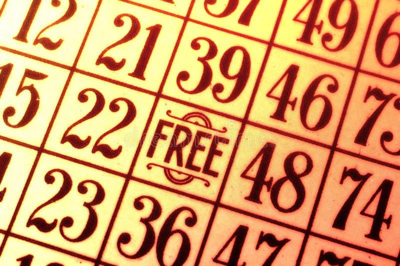 Tarjeta del bingo imagen de archivo