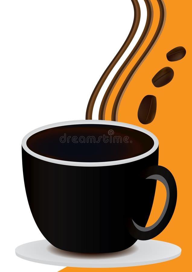 Tarjeta del café con la taza de café stock de ilustración