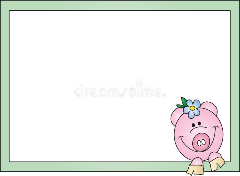 Tarjeta del cerdo stock de ilustración