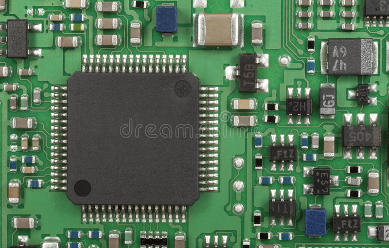 Circuito Impreso : Tarjeta del circuito impreso foto de archivo imagen