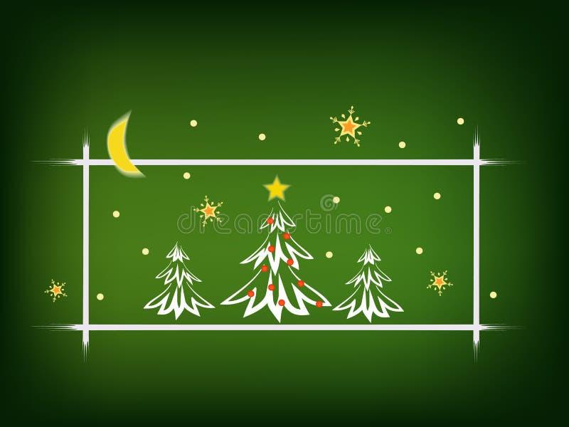 Tarjeta del concepto de la Navidad stock de ilustración