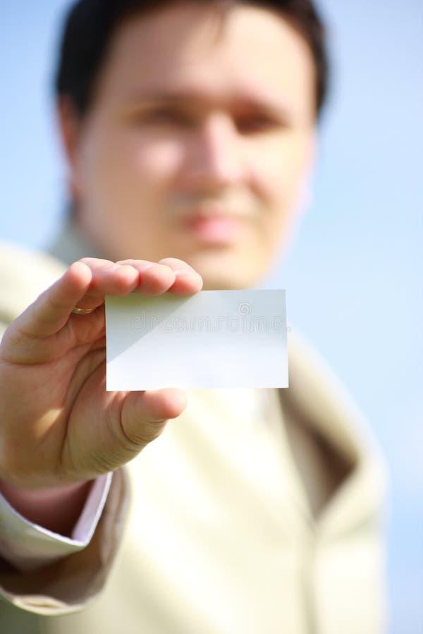 Tarjeta del contacto fotos de archivo