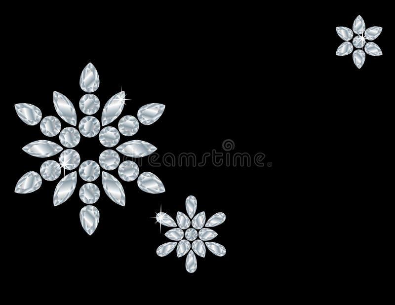 Tarjeta del copo de nieve del diamante foto de archivo libre de regalías