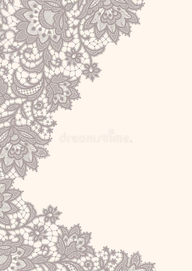 Tarjeta del cordón ilustración del vector