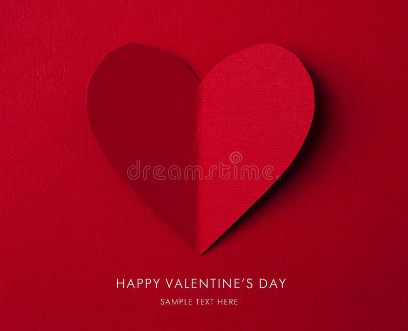 Tarjeta del día de fiesta. Corazón a partir del día de tarjetas del día de San Valentín de papel imagen de archivo libre de regalías