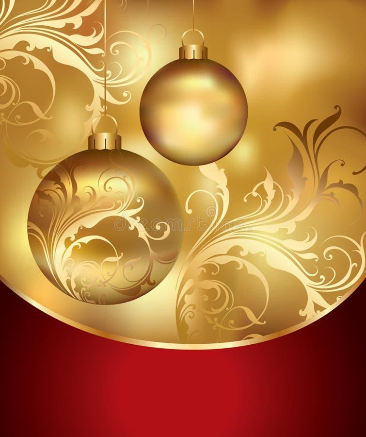 Tarjeta del día de fiesta. La Navidad, Año Nuevo stock de ilustración