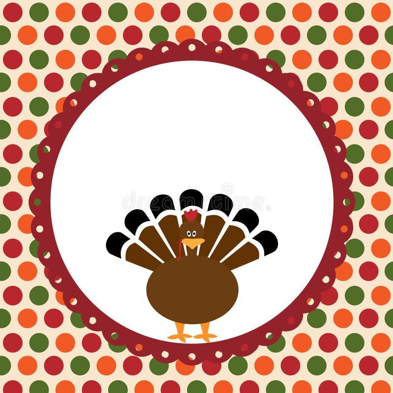 Tarjeta del día de la acción de gracias ilustración del vector