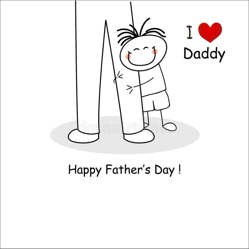 Tarjeta del día de padre stock de ilustración