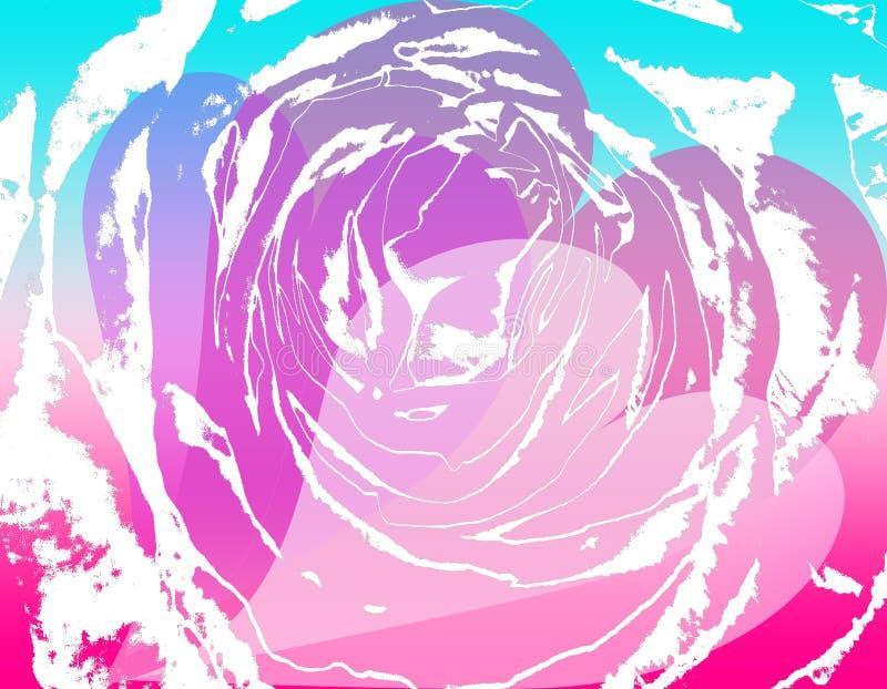 Tarjeta del día de San Valentín 3 de Grunge ilustración del vector