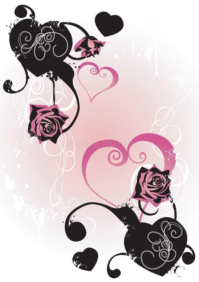Tarjeta del día de San Valentín libre illustration