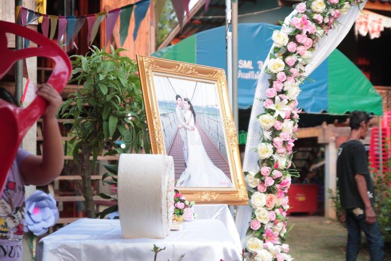 Tarjeta del día de San Valentín, ceremonia de boda imagen de archivo