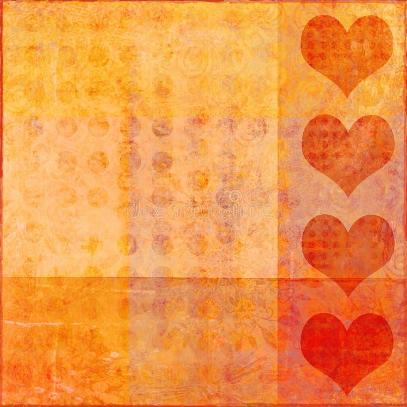 Tarjeta del día de San Valentín de Grunge stock de ilustración